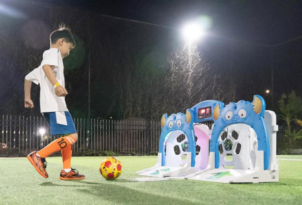 Children Soccer Shooting goal