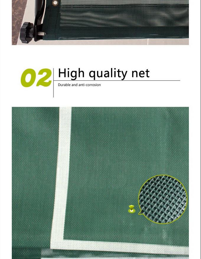 High end tennis net